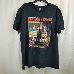 Elton John T-Shirt XL Black Cotton X-Large